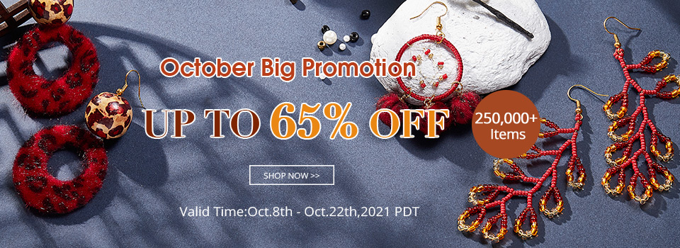 October Big Promotion 250,000+ Items UP TO 65% OFF